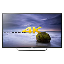 "Buy Sony Bravia 49XD7005 LED 4K Ultra HD Android TV, 49"" With Youview/Freeview HD, Playstation Now & Silver Shaft Design Online at johnlewis.com"