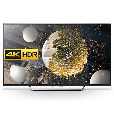 "Sony Bravia 49XD7005 LED HDR 4K Ultra HD Android TV, 49"" With Youview/Freeview HD, Playstation Now & Silver Shaft Design"