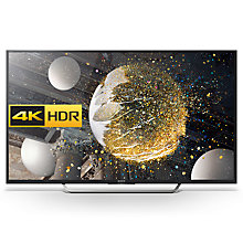 "Buy Sony Bravia 49XD7005 LED HDR 4K Ultra HD Android TV, 49"" With Youview/Freeview HD, Playstation Now & Silver Shaft Design Online at johnlewis.com"
