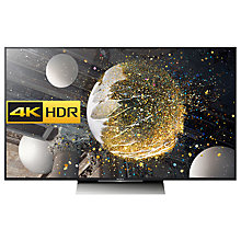 "Buy Sony Bravia 55XD8005 LED HDR 4K Ultra HD Android TV, 55"" With Youview/Freeview HD, Playstation Now & Silver Slate Design Online at johnlewis.com"