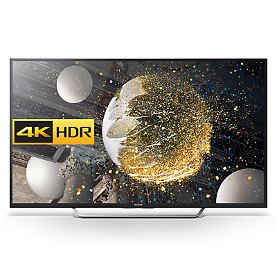 "Sony Bravia 65XD7505 LED HDR 4K Ultra HD Android TV, 65"" With Youview/Freeview HD, Playstation Now & Silver Shaft Design"