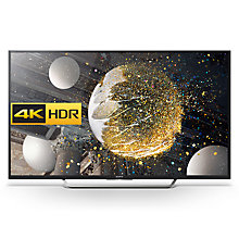 "Buy Sony Bravia 65XD7505 LED HDR 4K Ultra HD Android TV, 65"" With Youview/Freeview HD & Silver Shaft Design Online at johnlewis.com"
