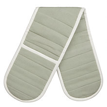 Buy John Lewis Croft Collection 'Seeds' Double Oven Glove, White / Green Online at johnlewis.com