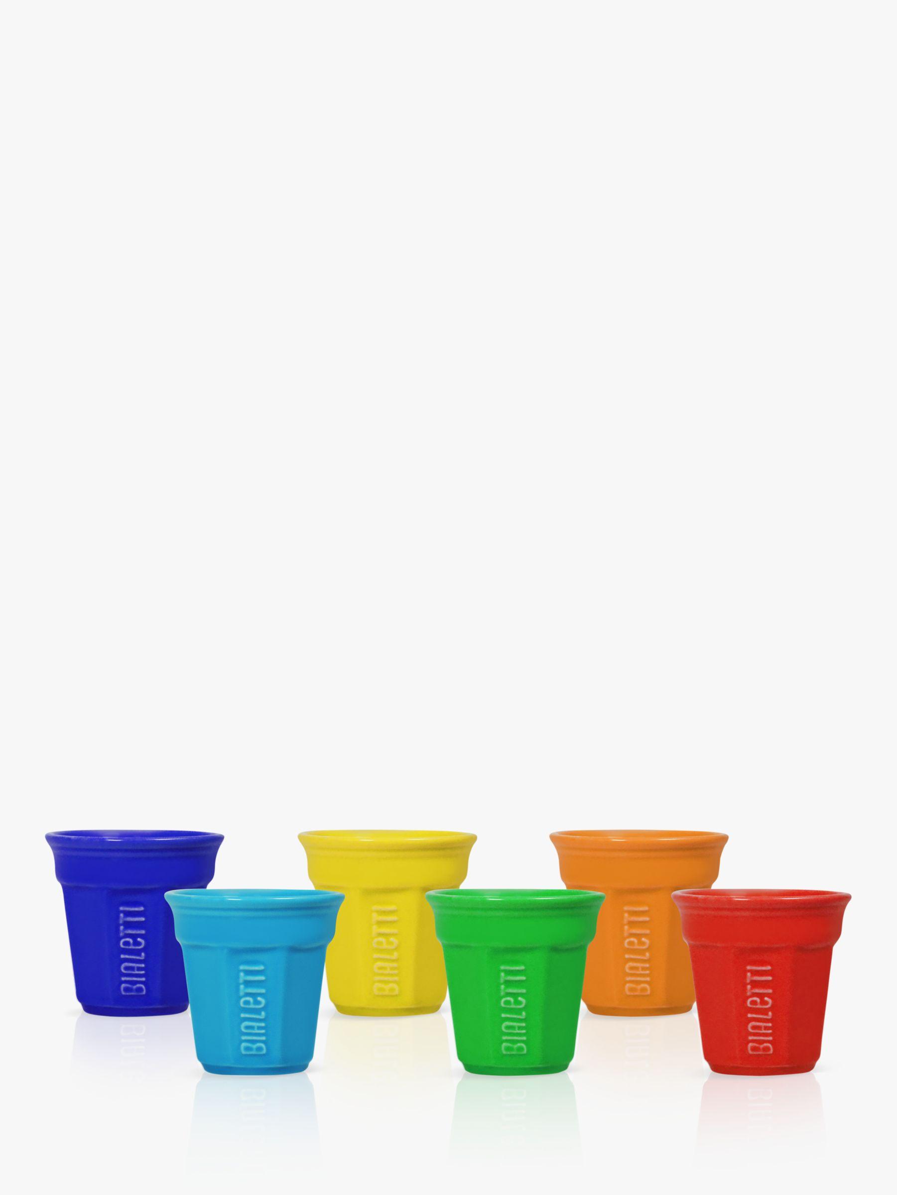 Bialetti Bialetti Espresso Cups, Set of 6, Multi