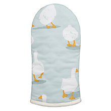Buy John Lewis Country Geese Oven Mitt, Green Online at johnlewis.com