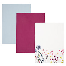 Buy John Lewis Country Floral Tea Towels, Set of 3 Online at johnlewis.com