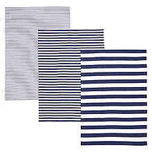 Buy John Lewis Coastal Stripe Tea Towels, Set of 3 Online at johnlewis.com