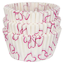 Buy John Lewis Heart Cupcake Cases, Pack of 75 Online at johnlewis.com