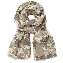 Buy John Lewis Lux Metallic Scarf, Taupe/Gold Online at johnlewis.com