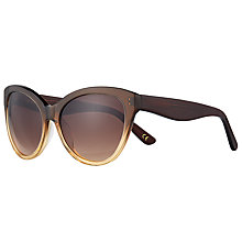 Buy John Lewis Ombre Cat's Eye Sunglasses, Brown Online at johnlewis.com