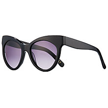 Buy John Lewis Extreme Cat's Eye Sunglasses, Matte Black/Purple Gradient Online at johnlewis.com