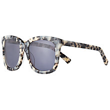 Buy AND/OR Marble Effect Square Sunglasses, Multi/Lilac Online at johnlewis.com