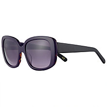 Buy John Lewis Chunky Square Sunglasses, Black Mix/Purple Gradient Online at johnlewis.com