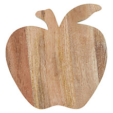Buy John Lewis 'Apple' Chopping Board, Natural / Green Online at johnlewis.com