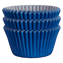 Buy John Lewis Cupcake Cases, Pack of 75, Navy Online at johnlewis.com