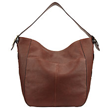 Buy John Lewis Sophia Leather Large Hobo Bag, Dark Tan Online at johnlewis.com