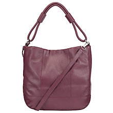 Buy Pieces Pennie Leather Shoulder Bag, Fig Online at johnlewis.com
