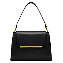 Buy Ted Baker Fionah Leather Shoulder Bag, Black Online at johnlewis.com