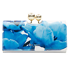 Buy Ted Baker Akash Blue Beauty Matinee Purse, White Online at johnlewis.com