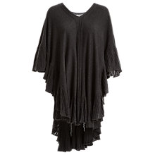 Buy Max Studio Frill Poncho, Heather Charcoal Online at johnlewis.com