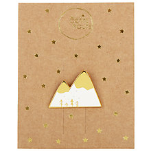 Buy Des Petits Hauts Lhipppolyte Mountain Pin, White/Gold Online at johnlewis.com