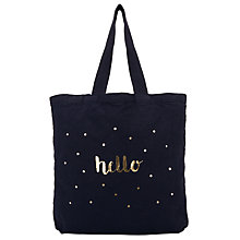 Buy Des Petits Hauts Odette Hello Tote Bag, Marine Online at johnlewis.com