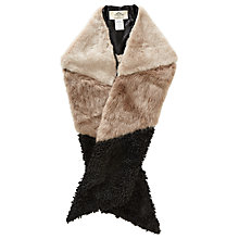 Buy Urbancode Faux Fur Scarf, Piglet/Precious Online at johnlewis.com