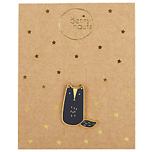 Buy Des Petits Hauts Letenne Fox Pin, Marine/Gold Online at johnlewis.com