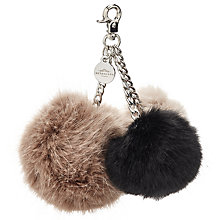 Buy Urbancode Triple Pom Pom Keyring, Multi Online at johnlewis.com