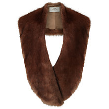 Buy Urbancode Oversized Faux Fur Scarf, Brown Online at johnlewis.com
