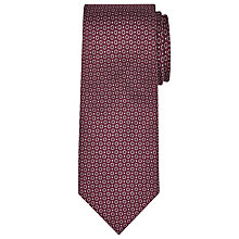 Buy John Lewis Woven in Italy Circle Print Silk Tie, Burgundy Online at johnlewis.com