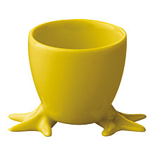 Buy 'Feet' Egg Cup, Yellow / White Online at johnlewis.com