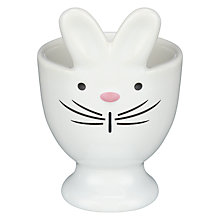 Buy DRH Bunny Rabbit Egg Cup, White Online at johnlewis.com