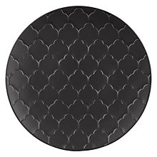 Buy John Lewis Fusion Kainoosh Texture Platter, Black Online at johnlewis.com