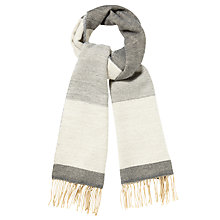 Buy Phase Eight Elly Colour Block Scarf, Ash Online at johnlewis.com