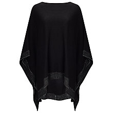 Buy Phase Eight Gia Step Hem Poncho, Black Online at johnlewis.com