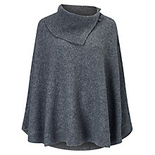 Buy Phase Eight Calinda Circle Hem Poncho, Grey Online at johnlewis.com