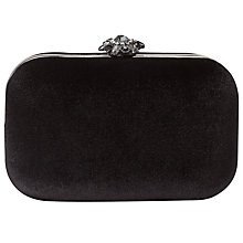 Buy Phase Eight Clara Velvet Clutch Bag, Black Online at johnlewis.com