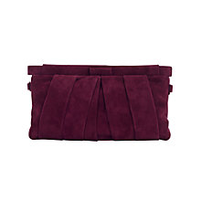 Buy Jacques Vert Suede Clutch Bag, Dark Red Online at johnlewis.com