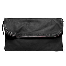 Buy Liebeskind Ota Leather Clutch Bag, Ninja black Online at johnlewis.com