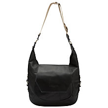 Buy Liebeskind Morioka Vintage Leather Hobo, Ninja Black Online at johnlewis.com