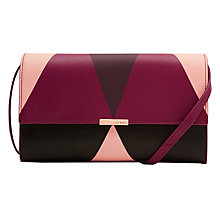 Buy Ted Baker Maude Leather Across Body Bag, Grape Online at johnlewis.com