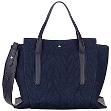 Buy Nica Nabi Large Grab Bag, Denim Quilt Online at johnlewis.com