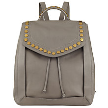 Buy John Lewis Clea Leather Backpack, Grey Online at johnlewis.com