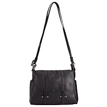 Buy AND/OR Rima Leather Satchel, Black Online at johnlewis.com