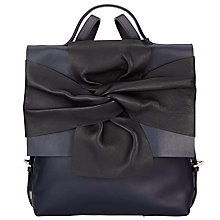 Buy John Lewis Effie Bow Backpack, Navy Online at johnlewis.com
