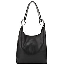 Buy Kin by John Lewis Eri Leather Large Shoulder Bag, Black Online at johnlewis.com