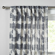 Buy Design Project by John Lewis No 029 Hidden Tab Top Voile Panel, Blue Grey Online at johnlewis.com
