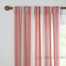 Buy John Lewis Dakara Linen Slot Top Voile Panel, Red Online at johnlewis.com
