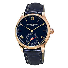 Buy Frédérique Constant FC-285N5B4 Men's Horological Smartwatch Leather Strap Watch, Navy Online at johnlewis.com